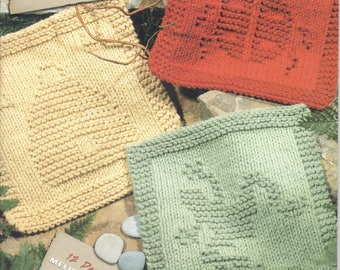 Garden Dishcloths to Knit ~  Knitting Book  ~  Leisure Arts