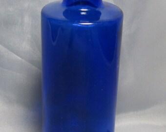 Cobalt Blue Medicine Bottle