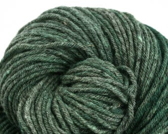 Hand Dyed Aran weight mini Empire Rambouillet Wool 213 yds 4oz Cypress