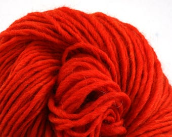 Brunswick Hand Dyed chunky weight 70/30 Corriedale wool Mohair blend yarn 140 yds 4oz Paprika