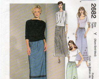 McCall's 2682 Misses Pull-On Skirts Uncut Pattern Size Xsm-Sml-Med Copyright 2000