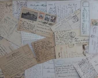 25 Vintage used Postcards
