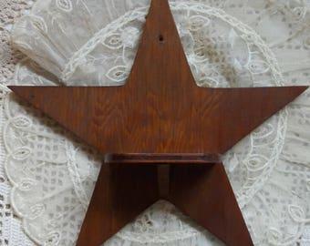 Vintage Wooden Star Shelf