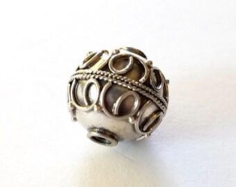 Bali Sterling Ball Round Bead 13mm