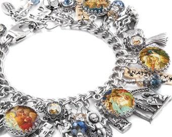 Nativity Christmas Jewelry, Religious Jewelry, Nativity Christmas Charm Bracelet, Christian Bracelet, Christian Jewelry, NativityJewelry