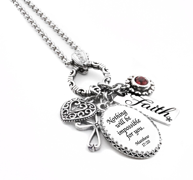 Christian Charm Bracelets: Religious Jewelry Faith Jewelry Personalized Bible Verse