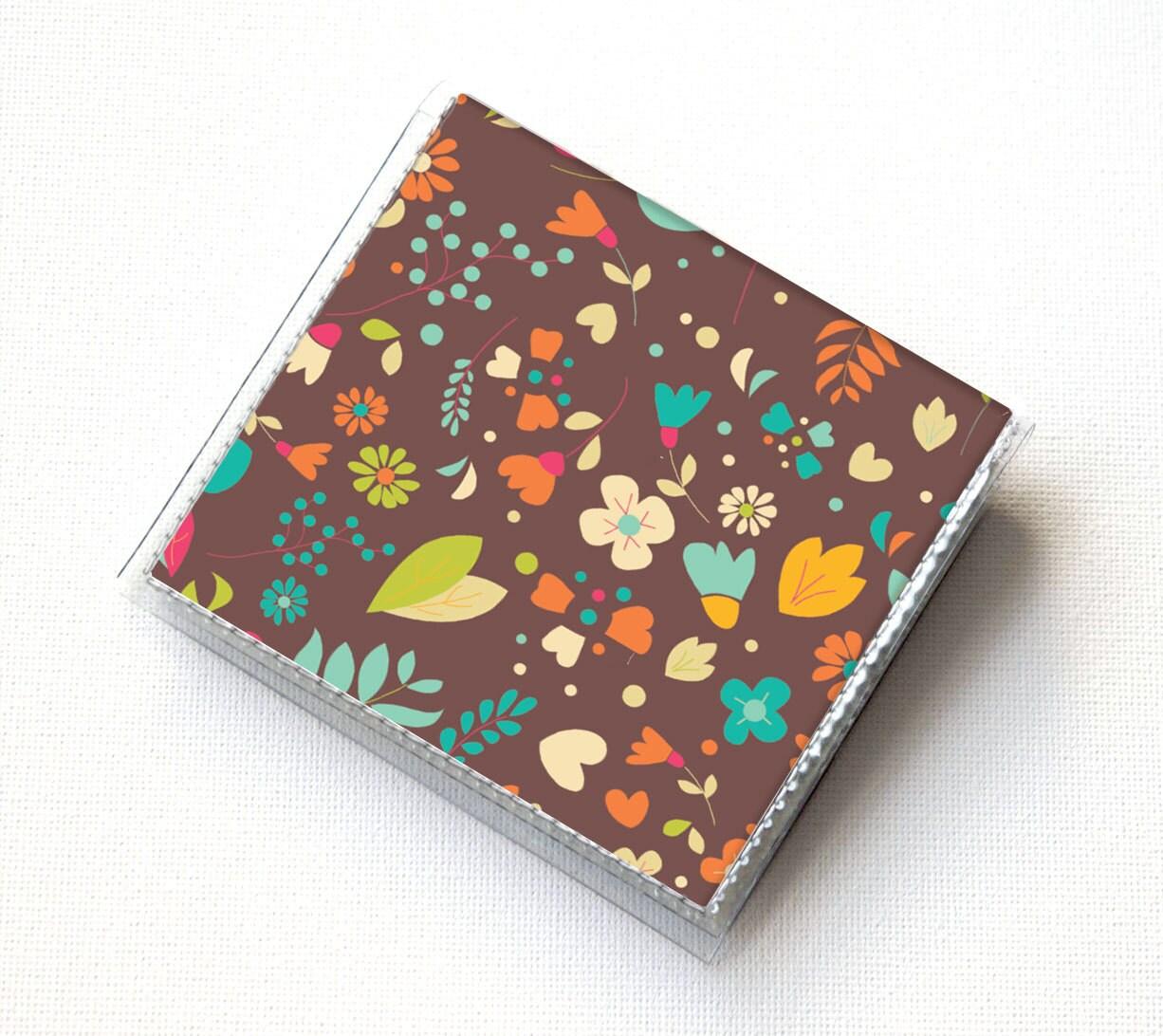 Vinyl Moo Square Card Holder - Emily / vinyl, snap, mini card case ...
