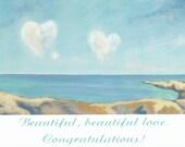 Love anniversary wedding engagement card blank inside