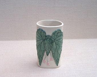 Garden Begonia Vase, Handmade Pottery, Ceramic Vase