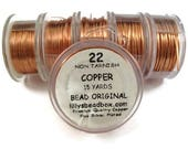 SPRING SALE - Copper Wire, 22 Gauge Round Wire for Making Jewlery, Non Tarnish Wire, 18 Yard Spool, Wire Wrapping Supplies, Pure Copper WIre