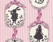 "New from Lecien, ""Girl's Story Alice Fall 2016"",  Alice and the white Rabbit, pink, yard"