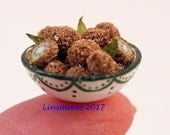 RESERVED *12th scale handmade mniature bowl of Kiwi fruit.*RESERVED for Minteriors