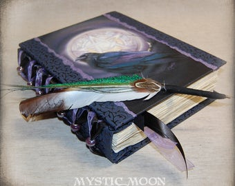 Book of Shadows / Journal / Binder / Wicca Pagan Pentacle / Pentagram  / Spell Book Pages / Wiccan Supplies / Pagan Art / Quill / Moon