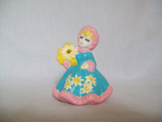 Christmas Girl, Holiday Girl, Winter Girl, Ceramic Girl, Ceramic Figure, Christmas Figure, Blue, Pink, Girl gift, Girl Decor, Holiday figure