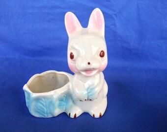 Easter Decoration Vintage Shawnee Bunny Rabbit Planter Easter Ornament TVAT