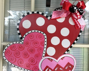 valentine door decor etsy