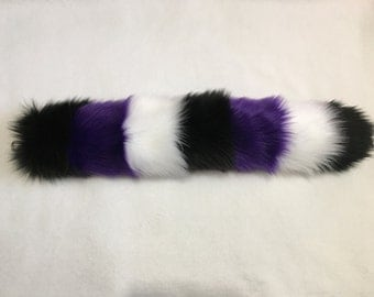 CHESHIRE CAT TAIL | Spooky | Belfry Costume Creations | Handmade Costume Cosplay Halloween Accessory Faux Fur Furry Rave Goth