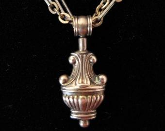 Antique 9k Georgian Architecural Amphora Pendant
