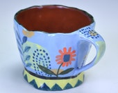 Espresso cup, small cup, blue cup