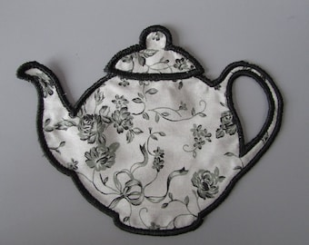 Embroidered  Fabric Teapot  Applique