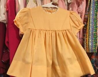 NOS 1960s Baby Dress 12/18 Months
