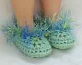 "18"" doll slippers - soft light green"