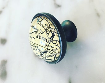 Austin Map Cabinet Knob - Custom Drawer Pull - DIY - Kitchen Remodel - Oil-Rubbed Brass - Renovation - HGTV