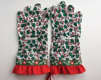 Designer Garden Gloves - Flowers, Hearts and Ruffle