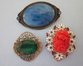 Jewelry DeStash Vintage Brooches and Clip