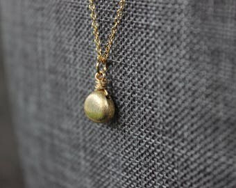 Brushed Vermeil Gold Necklace
