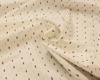 Dotted Swiss Cotton - 1 Yard - Cotton Fabric / Fabric by Yard / New Fabric / Dotted Swiss / Apparel Fabric - Creamy White