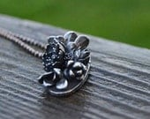 stories of the green and growing - large sterling silver succulent, botanical, cast garden necklace