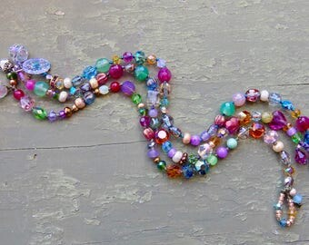 NEW Passion handknotted gemstone bracelets, pretty cord colors, natural crocheted jewelry