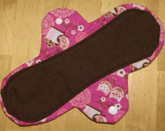6 LONG Moon-thly Pantyliners - Owls and Birdhouses pink brown
