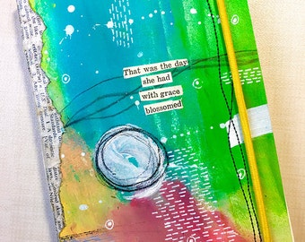 """Journal, Notebook, Sketchbook, Travel Notebook - New """"She"""" Found Poetry Journals"""