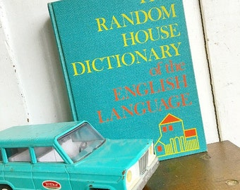 Old School... Vintage 1970 The Random House Dictionary Of The English Language School Edition Book Children Nursery Decor Bibliophile