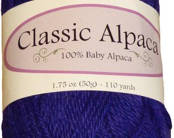 Classic Alpaca 100% Baby Alpaca Yarn #1830 Royalty Purple by The Alpaca Yarn Company - 110 yds per 50g