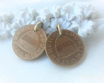 Vintage Coin Pair 1988 1991 Austria 50 Groschen Osterreich Republik Item No. 7935