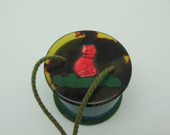 Vintage Celluloid Early Plastic Doll purse trinket or hat box