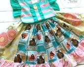 Moana Hawaii Disney dress Momi boutique custom dress