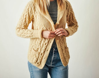 Vintage B. Altman Irish Fisherman's Sweater
