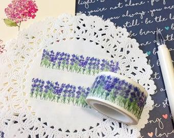 Bluebonnet Field Washi Tape • Purple Flower Washi Tape (198339)
