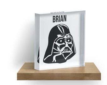 Star Wars Acrylic Block - Darth Vader - Stormtrooper - Kids Decor - Personalized Print - Customized art -Birthday gifts - Gift for boyfriend
