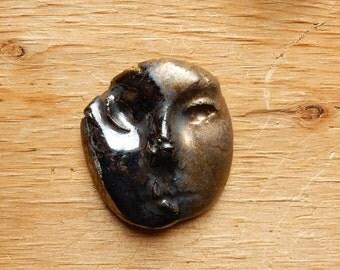 wonky eye...stoneware face number three