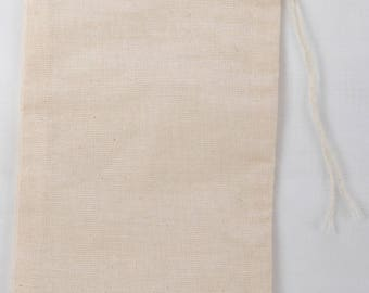 200 6x10 Inch and 300 4x6 inch Cotton Muslin Natural Drawstring Bags