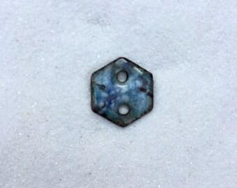 Small Enamel Hexagonal Shaped Charm