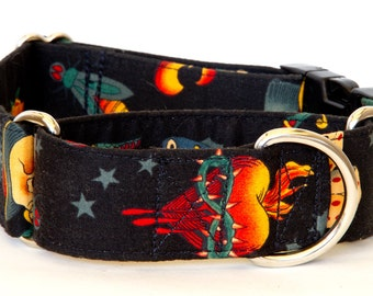 Sacred Heart Dog Collar - Martingale & Buckle 1 - 2 Inch Width