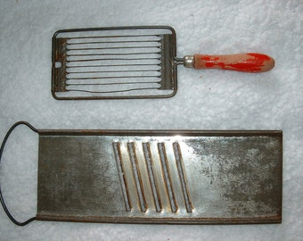 3 Vintage Kitchenware items - some red handle - LOT of prim rustic kitchen gadgets