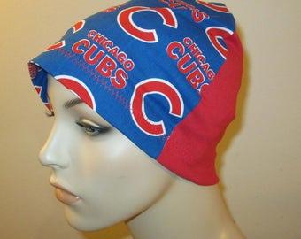 Kid's Chicago Cubs Chemo Hat  Children's Cancer Cap, Alopecia, Sleep Cap