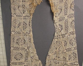 Antique lace sleeves handmade english beds bedforshire lace 1900s Victorian